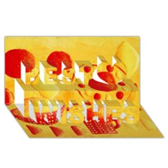 Lemons And Oranges With Bowls  Best Wish 3d Greeting Card (8x4)  by julienicholls