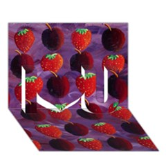 Strawberries And Plums  I Love You 3D Greeting Card (7x5)  by julienicholls