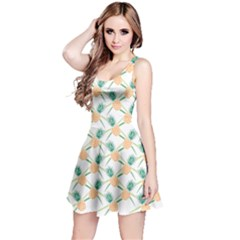Pineapple Pattern 04 Reversible Sleeveless Dresses by Famous