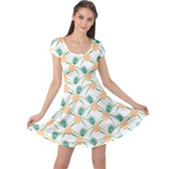 Pineapple Pattern 04 Cap Sleeve Dresses by Famous