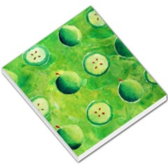Apples In Halves  Small Memo Pads by julienicholls