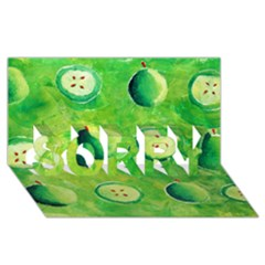 Apples In Halves  Sorry 3d Greeting Card (8x4)  by julienicholls