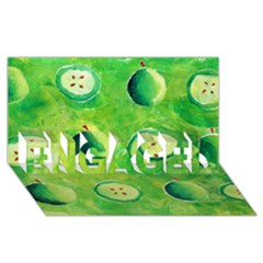 Apples In Halves  Engaged 3d Greeting Card (8x4)  by julienicholls
