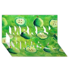 Apples In Halves  Merry Xmas 3d Greeting Card (8x4)  by julienicholls