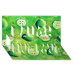 Apples In Halves  Laugh Live Love 3d Greeting Card (8x4)  by julienicholls