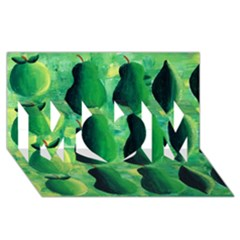 Apples Pears And Limes  Mom 3d Greeting Card (8x4)  by julienicholls