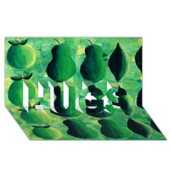 Apples Pears And Limes  HUGS 3D Greeting Card (8x4)  by julienicholls