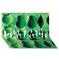 Apples Pears And Limes  Engaged 3d Greeting Card (8x4)  by julienicholls