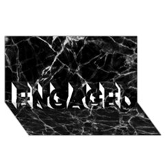 Black Marble Stone Pattern Engaged 3d Greeting Card (8x4)