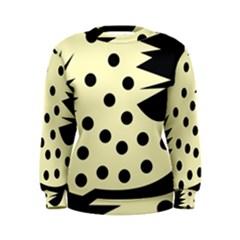 0012h Paleyellowandblackabstract1 Women s Sweatshirts by CircusValleyMall
