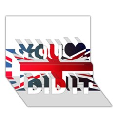 Brit2 You Did It 3d Greeting Card (7x5)