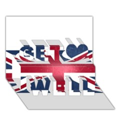 Brit3 Get Well 3d Greeting Card (7x5)  by ItsBritish