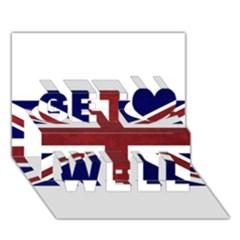 Brit8 Get Well 3d Greeting Card (7x5)