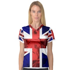 Brit9 Women s V-Neck Sport Mesh Tee by ItsBritish