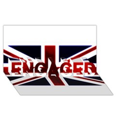 Brit10 Engaged 3d Greeting Card (8x4)  by ItsBritish