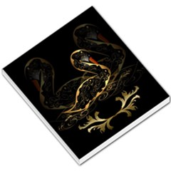 Wonderful Swan In Gold And Black With Floral Elements Small Memo Pads by FantasyWorld7