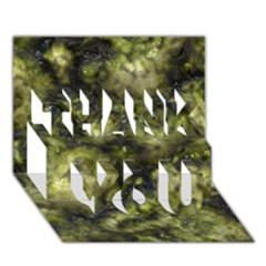 Alien Dna Green Thank You 3d Greeting Card (7x5)  by ImpressiveMoments