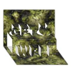 Alien Dna Green Get Well 3d Greeting Card (7x5)