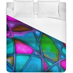 Imposant Abstract Teal Duvet Cover Single Side (double Size) by ImpressiveMoments