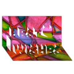 Imposant Abstract Red Best Wish 3D Greeting Card (8x4)
