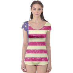 Usa99 Short Sleeve Leotard by ILoveAmerica