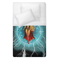 Beautiful Witch With Magical Background Duvet Cover Single Side (single Size) by FantasyWorld7