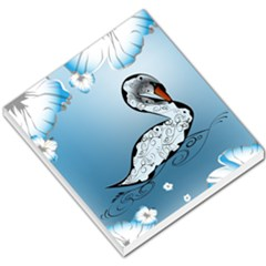 Wonderful Swan Made Of Floral Elements Small Memo Pads by FantasyWorld7