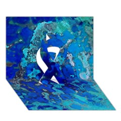 Cocos blue lagoon Ribbon 3D Greeting Card (7x5)