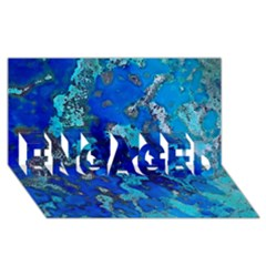 Cocos blue lagoon ENGAGED 3D Greeting Card (8x4)