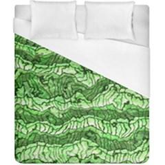Alien Skin Green Duvet Cover Single Side (double Size) by ImpressiveMoments