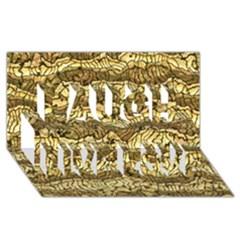 Alien Skin Hot Golden Laugh Live Love 3d Greeting Card (8x4)