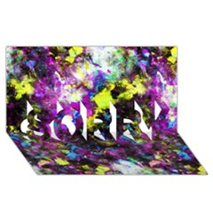 Colour Splash G264 Sorry 3d Greeting Card (8x4)  by MedusArt