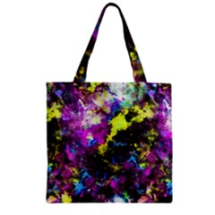Colour Splash G264 Zipper Grocery Tote Bags by MedusArt