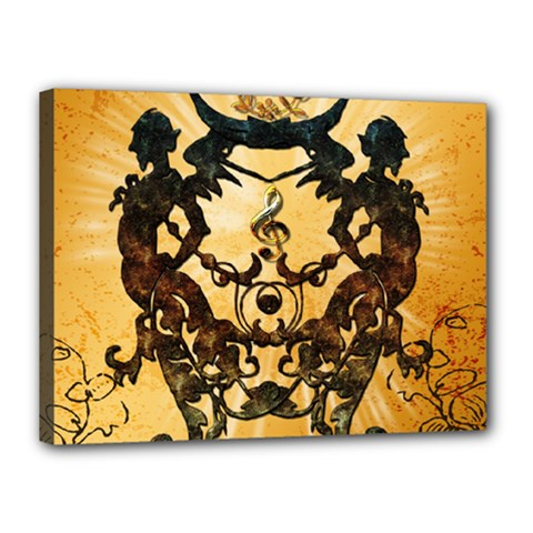 Clef With Awesome Figurative And Floral Elements Canvas 16  X 12  by FantasyWorld7