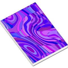 Retro Abstract Blue Pink Large Memo Pads by ImpressiveMoments