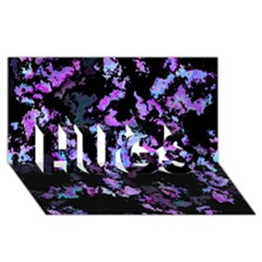 Splatter Blue Pink Hugs 3d Greeting Card (8x4)  by MoreColorsinLife