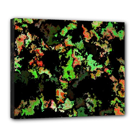 Splatter Red Green Deluxe Canvas 24  X 20   by MoreColorsinLife