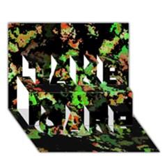 Splatter Red Green TAKE CARE 3D Greeting Card (7x5)