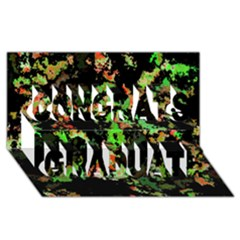 Splatter Red Green Congrats Graduate 3d Greeting Card (8x4)  by MoreColorsinLife