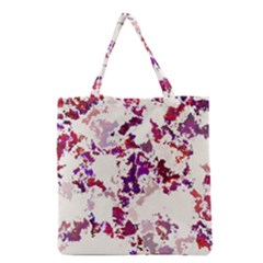 Splatter White Grocery Tote Bags by MoreColorsinLife