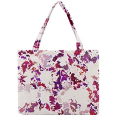 Splatter White Tiny Tote Bags by MoreColorsinLife