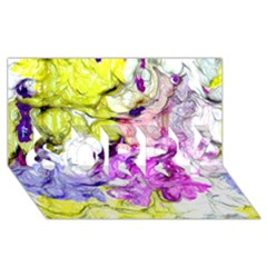 Strange Abstract 2 Soft Sorry 3d Greeting Card (8x4)