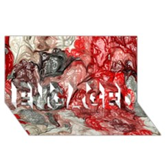 Strange Abstract 3 ENGAGED 3D Greeting Card (8x4)