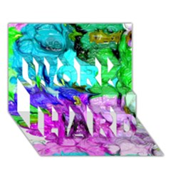 Strange Abstract 4 Work Hard 3d Greeting Card (7x5)  by MoreColorsinLife