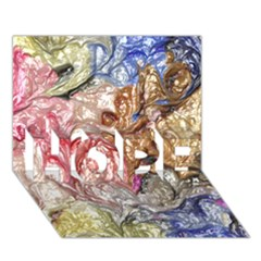 Strange Abstract 6 HOPE 3D Greeting Card (7x5)
