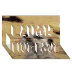 Meerkat 2 Laugh Live Love 3d Greeting Card (8x4)