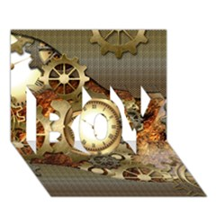 Steampunk, Wonderful Steampunk Design With Clocks And Gears In Golden Desing Boy 3d Greeting Card (7x5) by FantasyWorld7