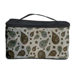 Vintage Paisley Grey Cosmetic Storage Cases by MoreColorsinLife