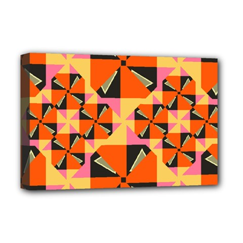 Windmill In Rhombus Shapes Deluxe Canvas 18  X 12  (stretched) by LalyLauraFLM