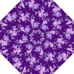 Vintage Roses Purple Folding Umbrellas
